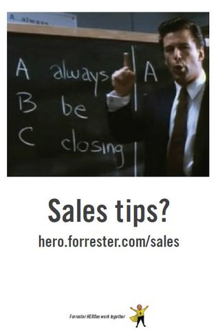 Hero sales poster